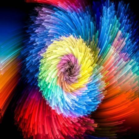 Metaphorical Vibrant Vortex