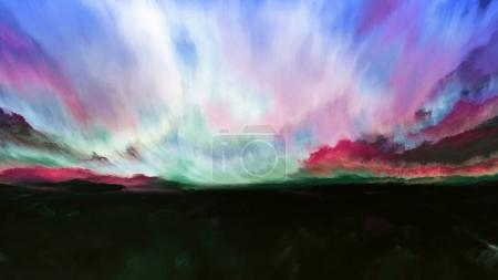 Photo for Inner World series. Design composed of digital colors as a metaphor on the subject of Universe, Nature, creativity and imagination - Royalty Free Image