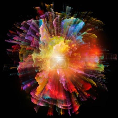 Foto de Serie de explosiones de color. Diseño abstracto de rayas coloridas en el tema de diseño, arte e imaginación - Imagen libre de derechos