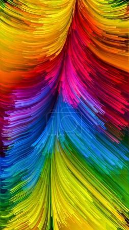Photo pour Série Color In Motion. Composition du motif de peinture liquide sur le sujet de la conception, de la créativité et de l'imagination à utiliser comme papier peint pour écrans et appareils - image libre de droit