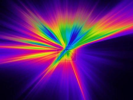 Photo pour Fond de digital explosion de couleurs violets, verts et orange - image libre de droit