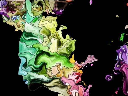 Human Apart series. Creative arrangement of head p...