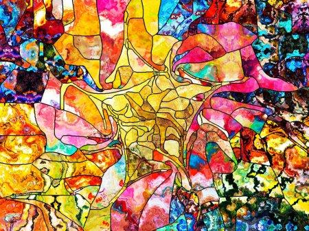 Leaded Glass Pattern series. Creative arrangement ...