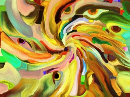 Photo pour Série Vitrail Forever. Interaction de fragments de couleurs, de motifs de formes et de symboles sur le thème de l'art, de la division de l'espace et du design - image libre de droit