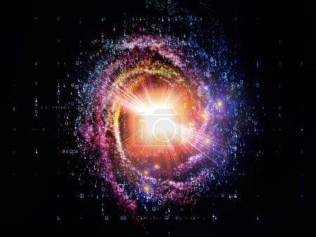 Photo pour Math Universe series. Composition des chiffres et des éléments d'espace pour les projets de mathématiques, de sciences, d'éducation et de technologie moderne - image libre de droit