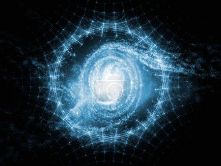 Photo pour Eléments de la série Cosmos. Contexte abstrait fait d'espace et d'étoiles pour une utilisation avec des projets sur les mathématiques, les sciences, l'éducation et la technologie moderne - image libre de droit