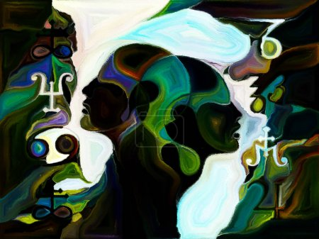 Stained Glass Forever series. Composition of human...