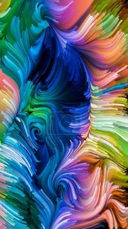 Photo pour Série Color In Motion. Design de fond du motif de peinture liquide sur le thème du design, créativité et imagination à utiliser comme fond d'écran pour écrans et périphériques - image libre de droit