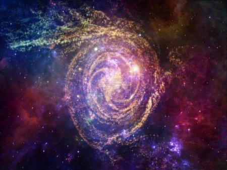 Photo pour Eléments de la série Cosmos. Interaction de l'espace et des étoiles dans les domaines des mathématiques, des sciences, de l'éducation et des technologies modernes - image libre de droit