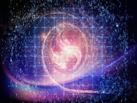 Photo pour Math Universe series. Composition de fond des chiffres et des éléments de l'espace sur le thème des mathématiques, des sciences, de l'éducation et de la technologie moderne - image libre de droit