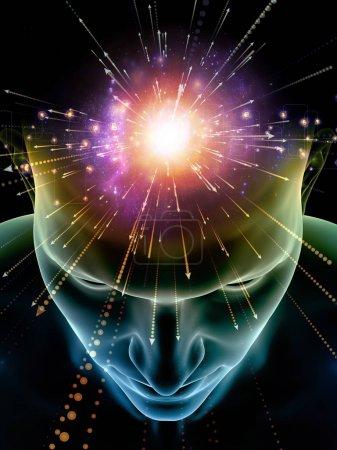 Elements of Mind series. 3D illustration of human ...