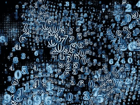 Photo pour Numéro Série mondiale. Conception abstraite faite de chiffres et d'éléments fractaux sur le sujet de la science, de l'éducation et de la technologie moderne - image libre de droit