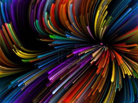 wirbelnden Farbhintergrund