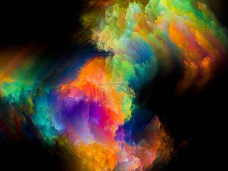 Photo pour Fond de peinture couleur 3D sur le design, la créativité, l'inspiration et l'art. Série de couleurs abstraites . - image libre de droit