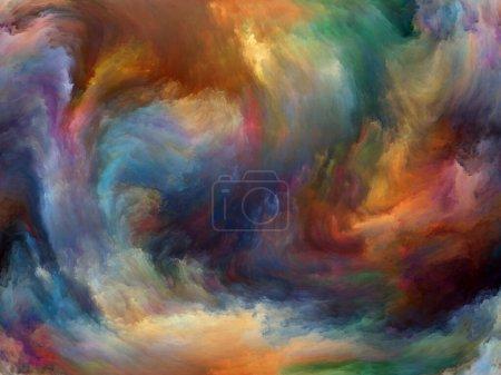 Photo pour Résumé Série de fond. Fond abstrait fait de couleur et mouvement sur toile pour une utilisation avec des projets sur l'art, la créativité et l'imagination - image libre de droit