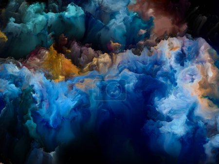 Photo for Dreams of Upper Atmosphere series. Canvas of fractal colors on the subject of digital painting, alien worlds and abstract art. - Royalty Free Image