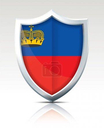 Shield with Flag of Liechtenstein