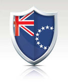 Shield with Flag of Cook Islands