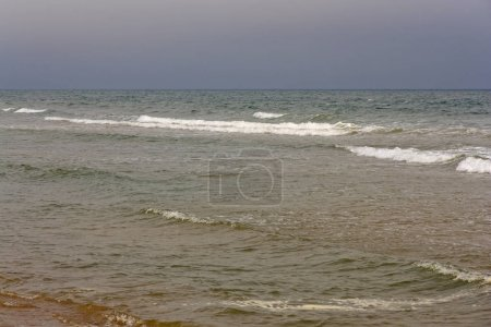 Photo for Storm and waves on the ocean natural background. - Royalty Free Image
