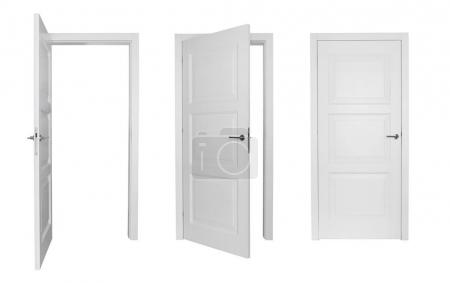 Set of different doors