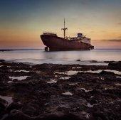 Shipwreck in the ocean
