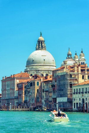 Traditional sunny view of Venice