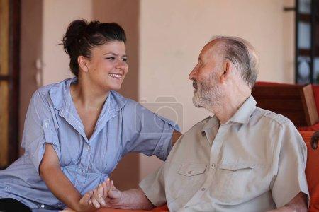 carer with senior man