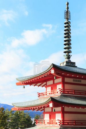 Beautiful Shureito pagoda in park
