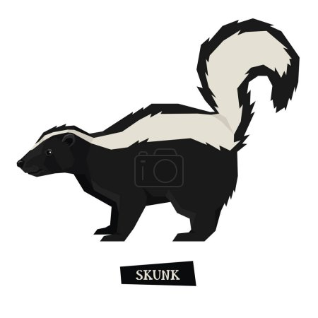 Wild animals collection Skunk Geometric style