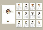 Calendar with twelve different dogs Cover with Chihuahua