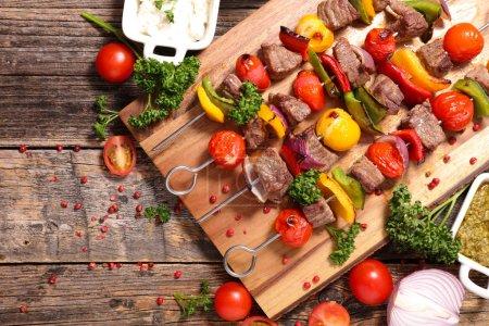 grilled meat skewer