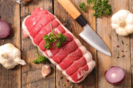 Raw roast beef