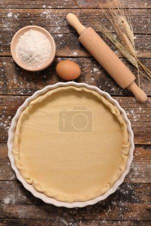 Raw dough in plate