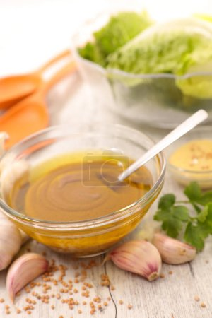 sauce for salad on background