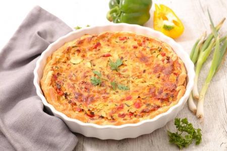 Delicious vegetable quiche