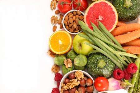 Close-up view of  selection of healthy food