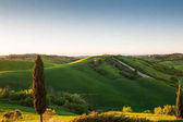 Beautiful Tuscany landscape at sunset, Italy