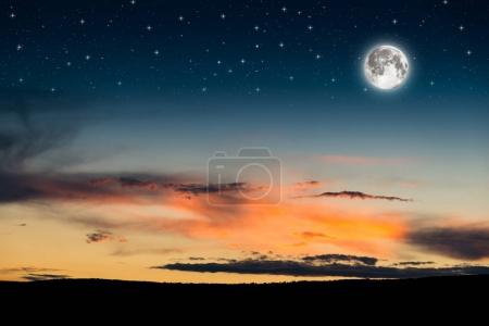 dramatic night sky
