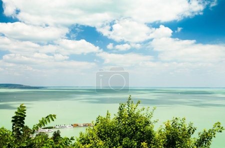Balaton lake in Hungary