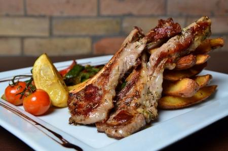 Appetizing lamb chops