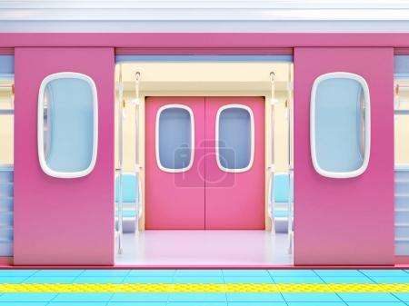 subway train open door