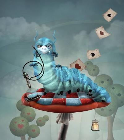 Photo pour Série Wonderland - Chenille et narguilé - image libre de droit