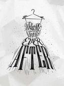 Poster wedding dress