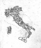 Map Italy vintage