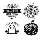 Halloween logos with curving pumpkins