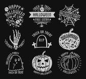 Set of Halloween logos