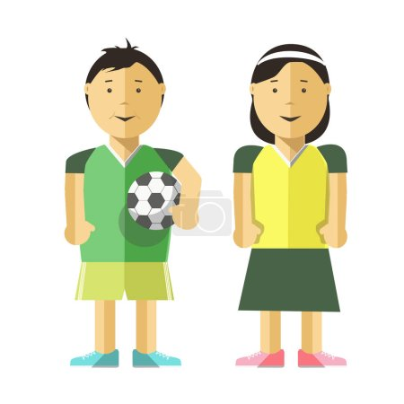 cartoon characters of girl and boy