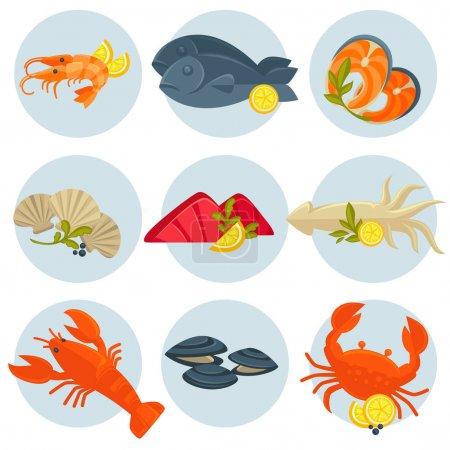 set of tasty Seafood