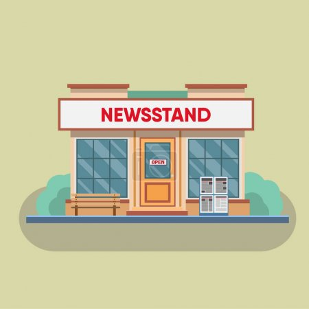 exterior of old Newsstand