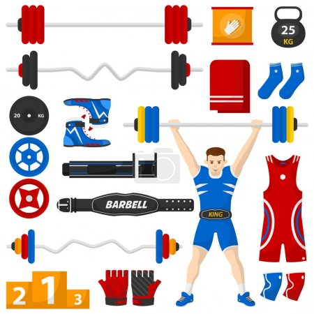 Set of sports equipment for Bodybuilding
